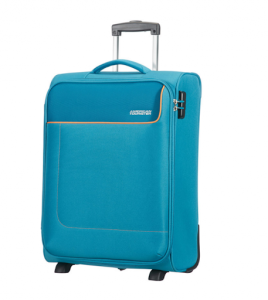 FUNSHINE 2-WHEEL BLUE OCEAN CABIN LUGGAGE BY AMERICAN TOURISTER